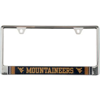 West Virginia Mountaineers Jersey Bottom Only Metal Acrylic Cut License Plate Frame