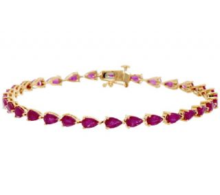 Ruby, Emerald or Sapphire Pear Shaped 7 1/4 Bracelet —
