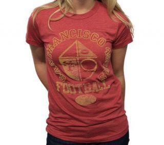 NFL 49ers Womens Vintage Short Sleeve Crew T Shirt —