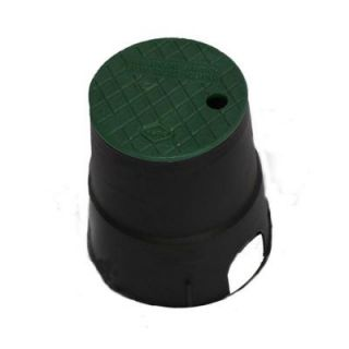 DURA 6 in. Round Valve Box in Black Body Green Lid 60