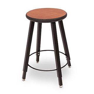 WB Manufacturing Adjustable Height Round Laminate Armor Edge Seat 4 Leg Stool; 22   32