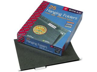 Smead 64055 Hanging Folders, 1/5 Tab, 11 Point Stock, Letter, Green, 25/Box