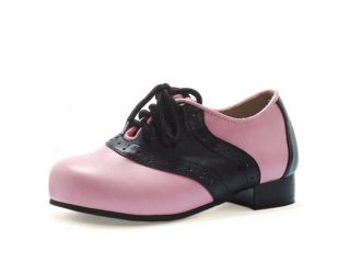 Womens Saddle Shoes   Black And Pink
