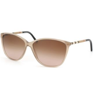 Burberry Womens BE 4117 301213 Sand Plastic Cat Eye Sunglasses