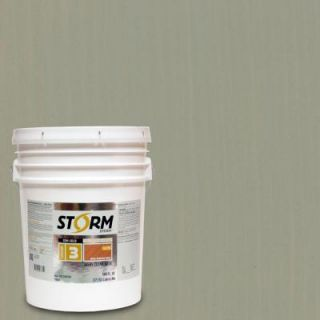 Storm System 5 gal. Parsons Gray Exterior Semi Solid Dual Dispersion Wood Finish 345C119 5