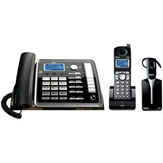 RCA 2 Line Expandable Corded/Cordless/Headset Phone System with Caller ID &   7374792