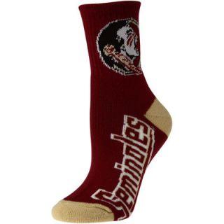Womens Florida State Seminoles Team Color Quarter Length Socks