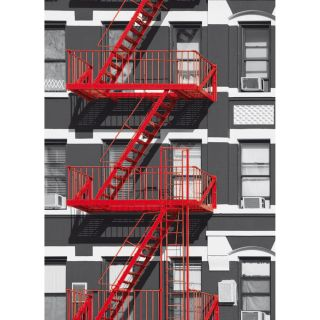 Ideal Decor Fire Escape Wall Mural by Brewster Home Fashions