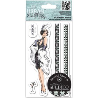 Papermania Art Deco Tall Urban Stamps Flapper