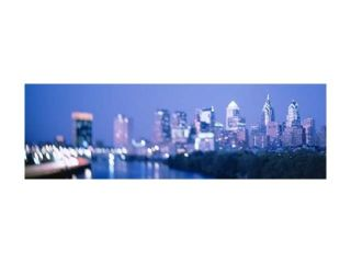 River passing through a city, Schuylkill River, Philadelphia, Pennsylvania, USA Print by Panoramic Images