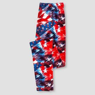 Girls American Flag Leggings   Red/ White/ Blue