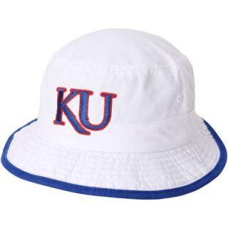 Kansas Jayhawks adidas Bucket Hat   White