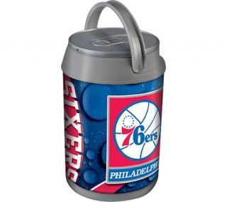 Picnic Time Mini Can Cooler Philadelphia 76ers Print   Silver/Grey