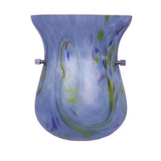Hampton Bay 1 Light Chrome Wall Sconce with Blue Opal Art Glass 25378 71