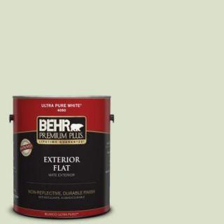 BEHR Premium Plus 1 gal. #420E 2 Palm Breeze Flat Exterior Paint 405001