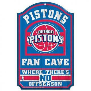 """NBA 11"""" x 17"""" Fan Cave Sign   Detroit Pistons   7245732"""