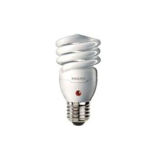 Philips 60W Equivalent Soft White Spiral Dusk Till Dawn CFL Light Bulb (E*) 405852
