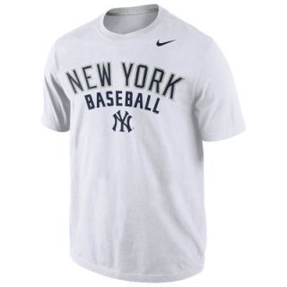 New York Yankees Nike Away Practice T Shirt   White