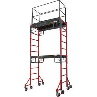 Metaltech BuildMan Guardrails System — Fits BuildMan Model I-IBMSS Drywall Baker Scaffolding, Model# I-BMSGR  Scaffolding