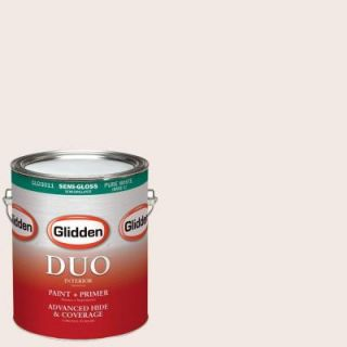 Glidden DUO 1 gal. #HDGR56 Frosty Peach Ribbon Semi Gloss Latex Interior Paint with Primer HDGR56 01S