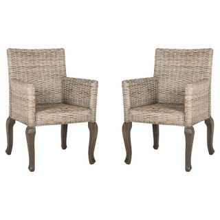 Armando Wicker Dining Chair (Set of 2)   Safavieh