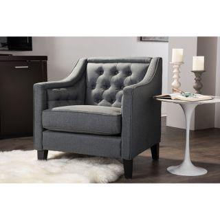 Vienna Classic Retro Modern Contemporary Grey Fabric Upholstered