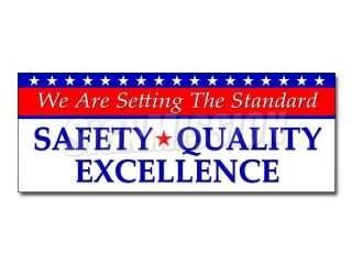 """48"""" SETTING THE STANDARD SAFETY QUALITY EXCELLENCE DECAL sticker workplace"""