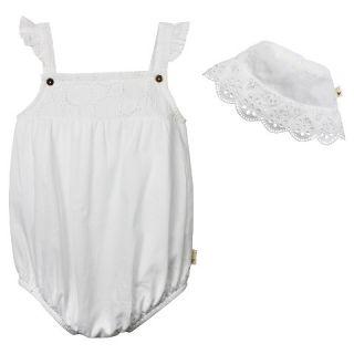 Burts Bees Baby™ Crochet Bubble & Bucket Hat   White