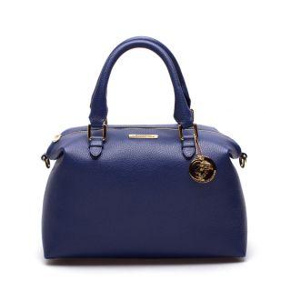 Versace Collection Blue Leather Duffel Shoulder Bag   18426094