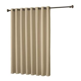 Bella Luna Maya Woven Blackout Beige Grommet Extra Wide Patio Door Curtain Panel   108 in. W x 84 in. L YMC004959