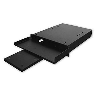 Quest Manufacturing 24D Hide Away Keyboard Shelf with Pull Out Mouse Tray   1 RU