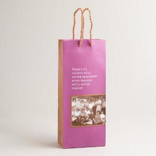 Shannon Martin Never Remember Wine Gift Bag