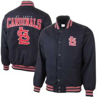 St. Louis Cardinals Pump Fake Varsity Jacket   Navy Blue