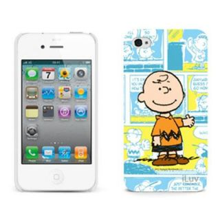 ICP752CBLU iLuv iLuv Snoopy Cartoon Series Hardshell Case for iPhone 4/4S, Charlie Brown