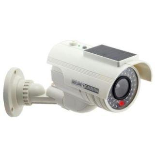 COP Security Solar Powered Fake Dummy Security Camera   White 15 CDM17
