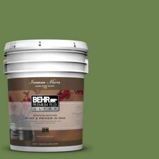 BEHR Premium Plus Ultra 5 gal. #430D 6 Happy Camper Flat/Matte Interior Paint 175305