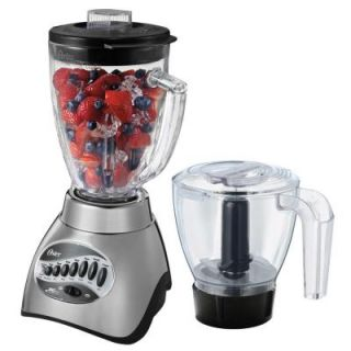 Oster 16 Speed Blender with Food Processor Attachment and 6 Cup Glass Jar 006878 000 NP0