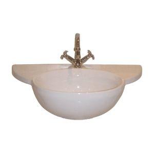 Barclay B3 611WH Alida White  Wall Mount Single Bowl Bathroom Sinks
