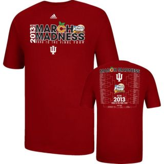 adidas Indiana Hoosiers 2013 March Madness Tournament Bracket T Shirt