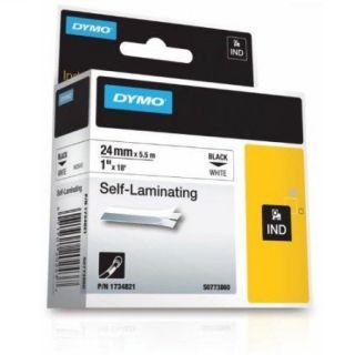Dymo 1734821 Rhino 1x1 White Vinyl Self Lam