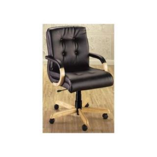 Management Swivel Chair w Upholstered Accents (359 Navy Fabric)