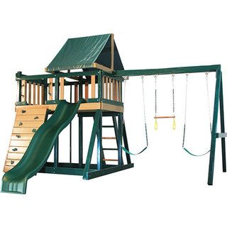 Congo Series Monkey Playsystem #1 Green Maintenance and Splinter Free