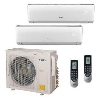 GREE Multi 21 Zone 30,000 BTU 2.5 Ton Ductless Mini Split Air Conditioner with Heat, Inverter, Remote   230 Volt/60Hz MULTI30HP202