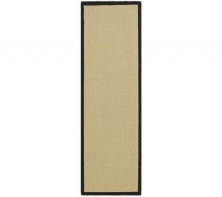 Serenity Solid Natural Fiber Sisal 26 x 8 Ru g with Border —