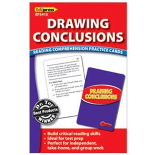 Edupress Ep3415 Drawing Conclusions Reading Comprehension Practice Cards Red