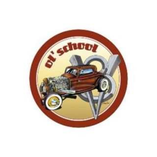 Past Time Signs WALD006 Ol School Automotive Round Metal Sign