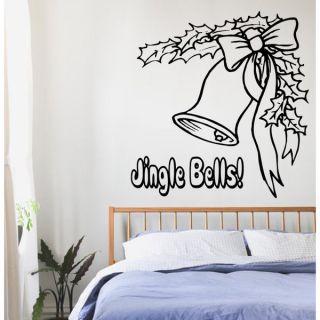 Merry Christmas Jingle Bells Vinyl Sticker Wall Art   17293964