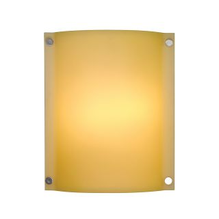 LBL Lighting PW6026AM2182HEW Stingray Venus 18W 277V 2 Light Outdoor Wall Sconce in Satin Nickel with Amber Shade