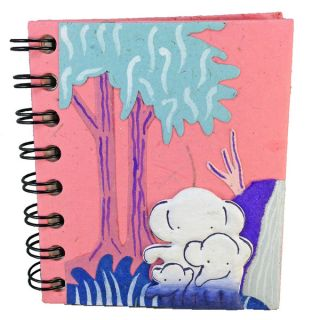 Mr. Ellie Pooh Hand crafted Pink Dinky Journal Stocking Stuffer (Sri