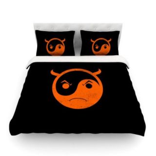 KESS InHouse Yin Yang Diablo by Frederic Levy Hadida Light Cotton Duvet Cover